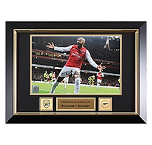 Arsenal Henry Framed Signed Photo V Leeds 2012