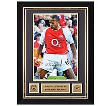 Arsenal Henry Framed Signed Photo V Tottenham 2002