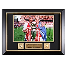 Arsenal Henry & Bergkamp Framed Signed Prem Winners 2004 Print
