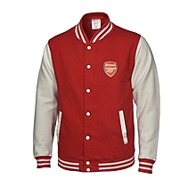 Arsenal Varsity Baseball Jacket Red