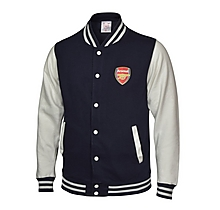 Arsenal Varsity Baseball Jacket Navy