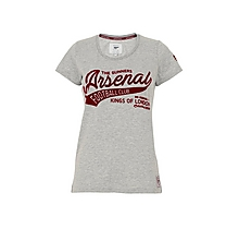 Arsenal Womens Flock Print T-Shirt