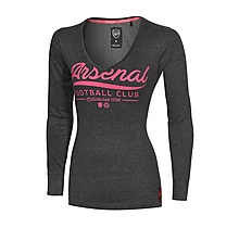 Arsenal Womens V Neck 3/4 Sleeve T-Shirt