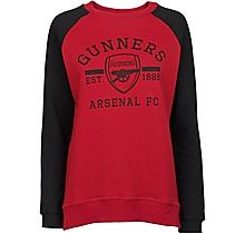 Arsenal Womens Raglan Sleeve Sweatshirt