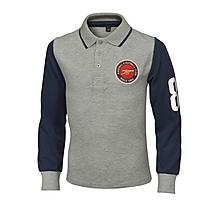 Arsenal Junior Contrast Long Sleeve Polo