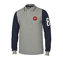 Arsenal Contrast Long Sleeve Polo Shirt