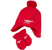 Arsenal Baby Fleece Hat & Mittens