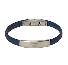 Arsenal Navy Silicon Crest Bracelet