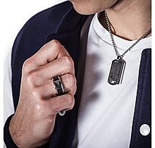 Arsenal Black & Stainless Steel Dog Tag