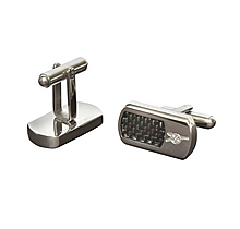 Arsenal Black & Stainless Steel Cufflinks
