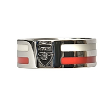 Arsenal Colour Stripe & Crest Band Ring
