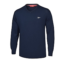 Arsenal Navy V Neck Cotton Jumper