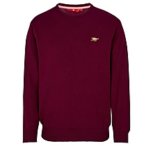Arsenal Red Crew Neck Cotton Jumper