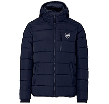 Arsenal Padded Hooded Jacket Navy