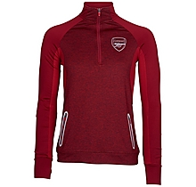 Arsenal Leisure Womens Marl 3/4 Zip Top