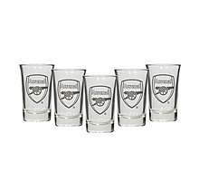 Arsenal 5 Pack of Shot Glasses