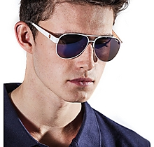 Arsenal White Aviator Style Sunglasses