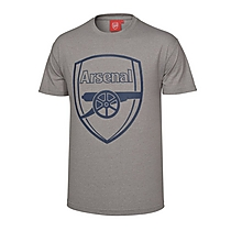 Arsenal Grey Marl Crest T-Shirt