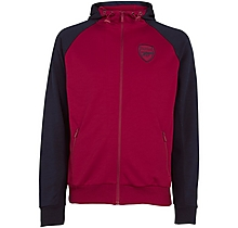 Arsenal Leisure Tricot Raglan Zip Hoody
