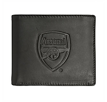 Arsenal Leather Bifold Large Embossed Crest Wallet