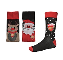 Arsenal Mens Christmas 3pk Socks