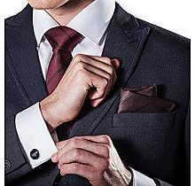 Arsenal Burgundy Cannon Tie & Cufflink Set