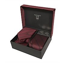 Arsenal Burgundy Cannon Tie & Cufflink Set
