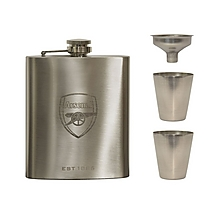 Arsenal Hipflask Funnel and Shot Glass Set