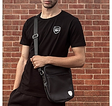 Arsenal Black Faux Leather Crossbody Bag