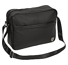 Arsenal Essentials Black Faux Leather Messenger Bag