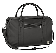 Arsenal Black Faux Leather Holdall Bag