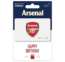 Arsenal Happy Birthday Gift Card 25