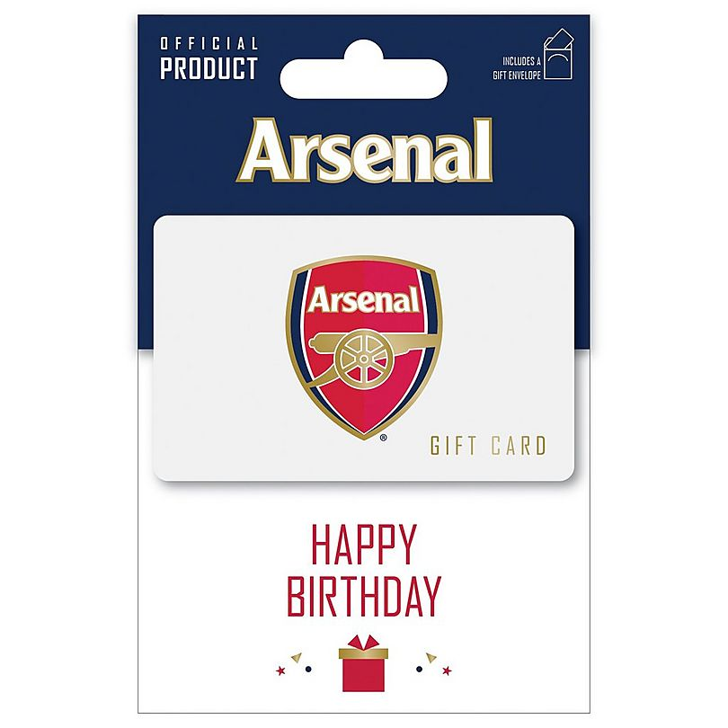 Arsenal Happy Birthday Gift Card Official Online Store