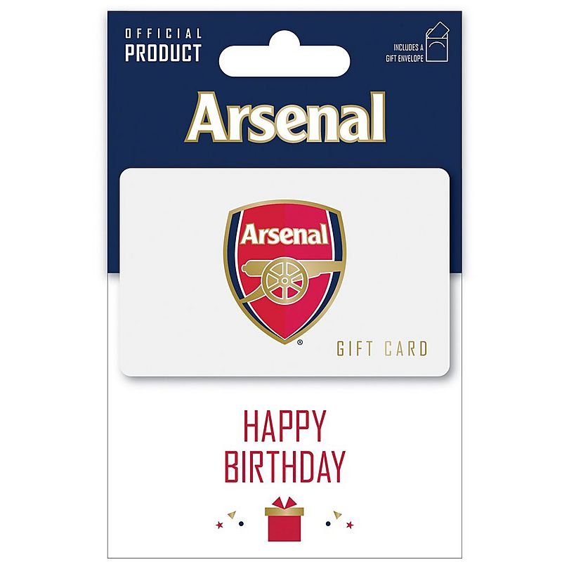 Arsenal Happy Birthday Gift Card 50