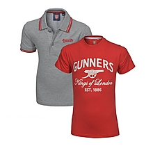 Arsenal Kids 2 Pack T-Shirt & Polo Shirt (2-13yrs)