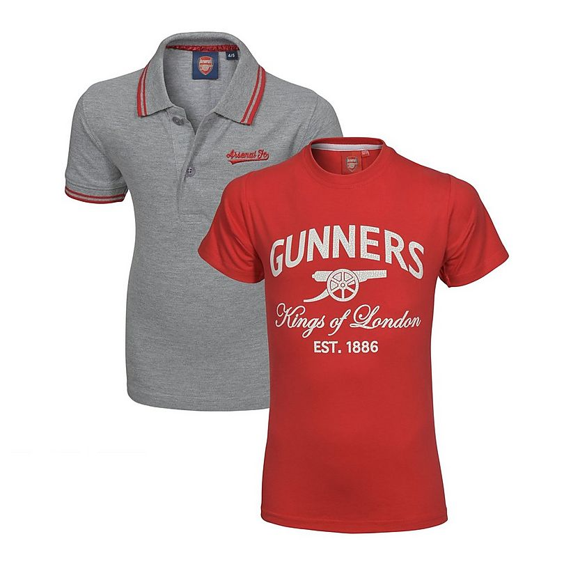 dbfb1e918fd Arsenal Kids 2 Pack T-Shirt   Polo Shirt (2-13yrs)