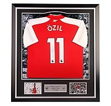 Arsenal Framed Signed Ozil 17/18 Home Shirt