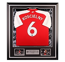 Arsenal Framed Signed Koscielny 17/18 Home Shirt
