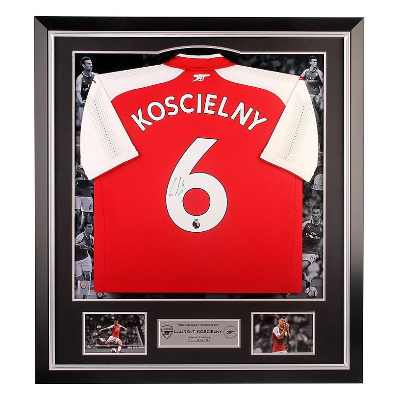 newest 2c681 a5596 Arsenal Signed Koscielny 17/18 Home Shirt | Official Online ...