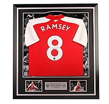 Arsenal Framed Signed Ramsey 17/18 Home Shirt