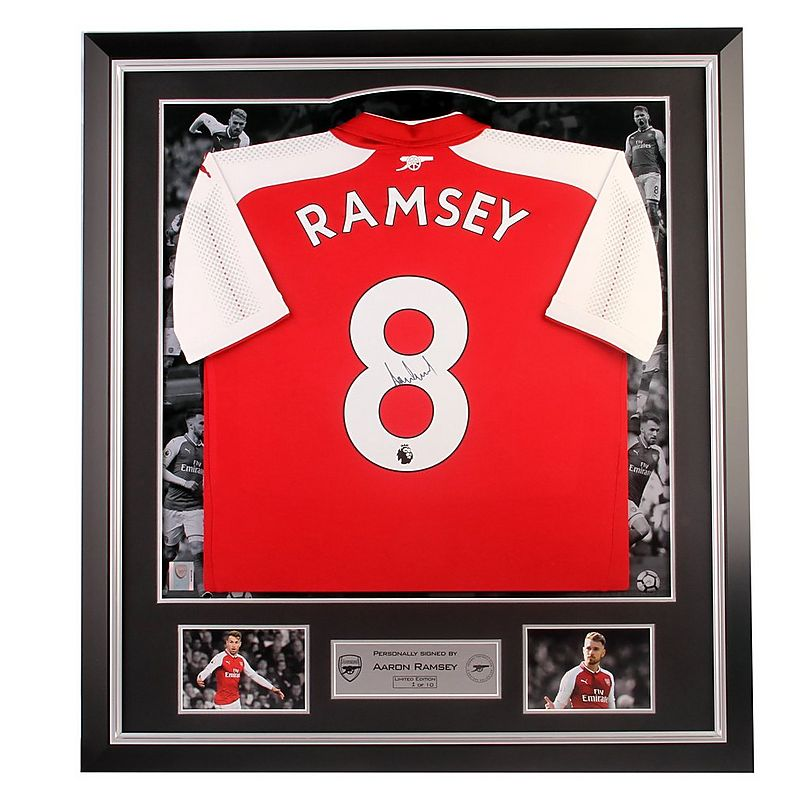 new products 3c807 8bd41 Arsenal Signed Ramsey 17/18 Home Shirt | Official Online Store