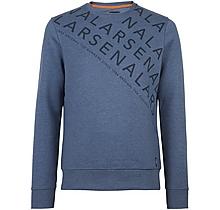 Arsenal Diagonal Text Print Sweatshirt