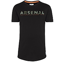 Arsenal Since 1886 Khaki Camo Text T-Shirt