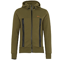 Arsenal Since 1886 Khaki Funnel Neck Hoody