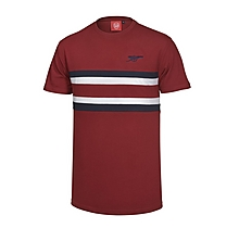 Arsenal Cut & Sew Chest Stripe T-Shirt