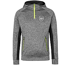 Arsenal Leisure Neon Trim 1/4 Zip Hoody