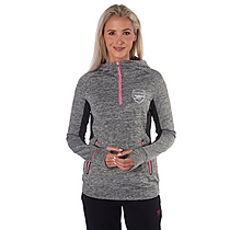 Arsenal Leisure Womens 1/4 Zip Hoody