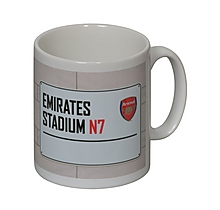 Arsenal Personalised Street Sign Mug