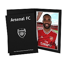 Arsenal Personalised Lacazette Autograph Photo Folder