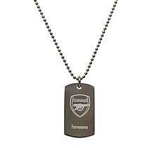 Arsenal Personalised Crest Dog Tag Pendant
